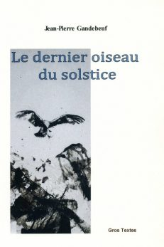 Gandebeuf Jean-Pierre - Le dernier oiseau du solstice