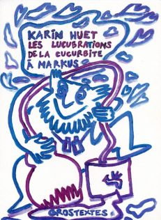 Huet Karin - Les lucubrations de la cucurbite à Markus